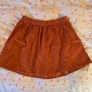 Rust corduroy skirt from forever 21